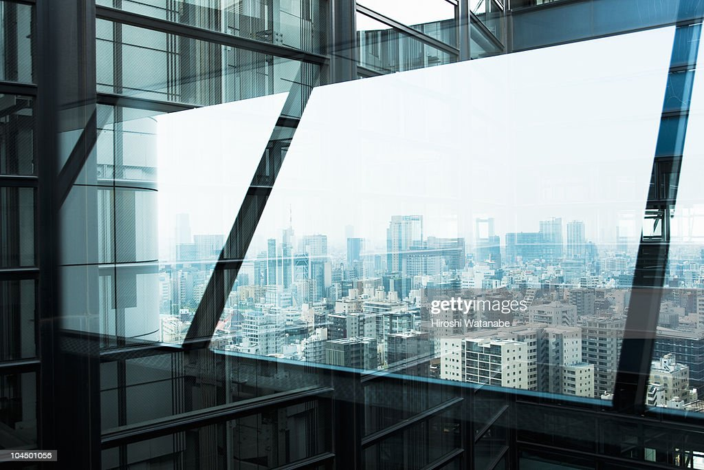 Reflection in window : Stock Photo