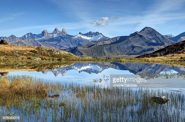 Reflection mountain lake