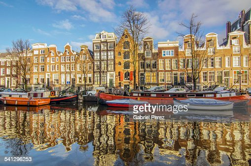 A Reflection of Amsterdam's Prinsengracht Canal