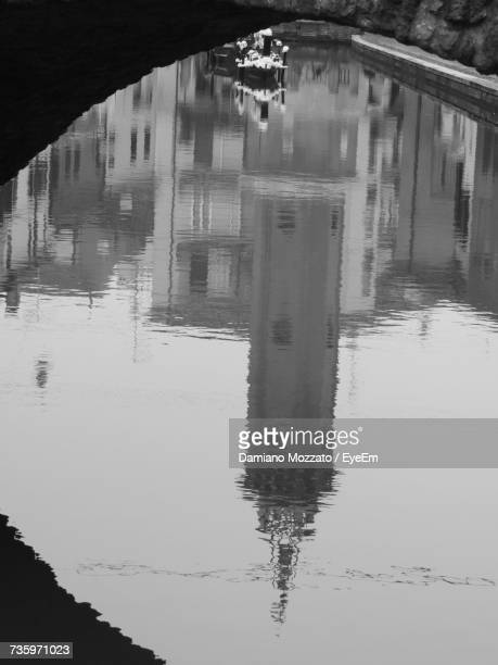 Reflection Of Built Structure In Lake