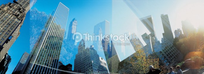 Reflection of city : Stock Photo