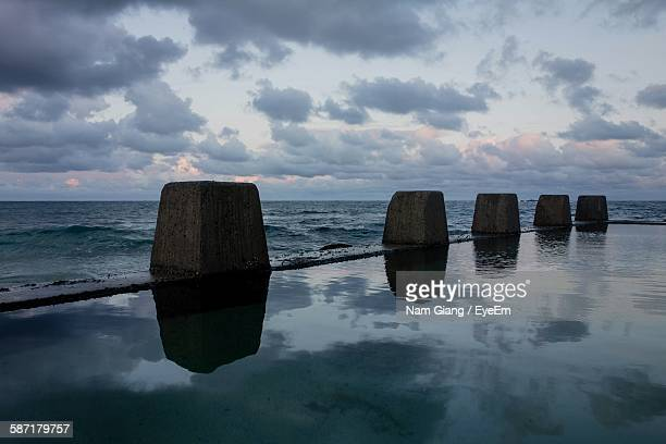 Reflection Of Clouds In Swimming Pool At Coogee Beach