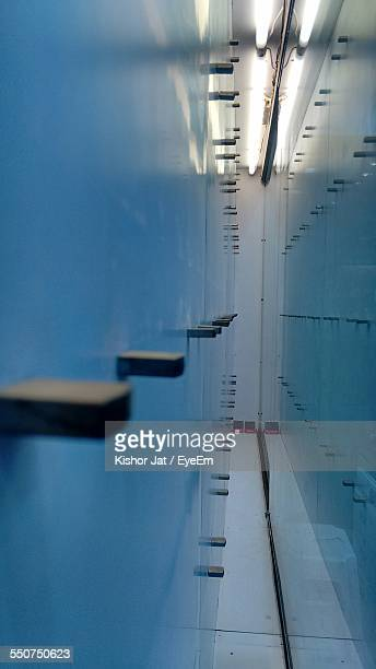 Reflection Of Electric Light In Swimming Pool