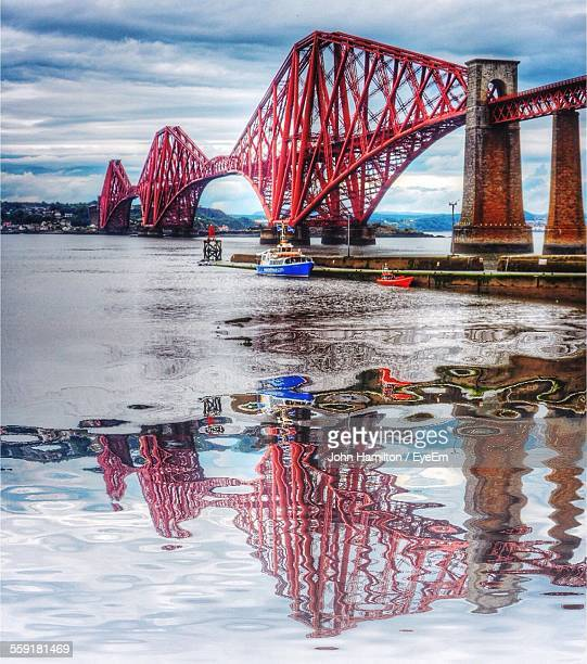 Reflection Of Forth Bridge In River