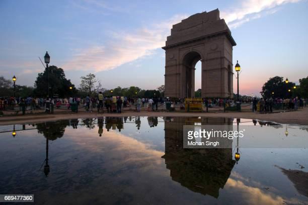 Reflection of India Gate, New Delhi