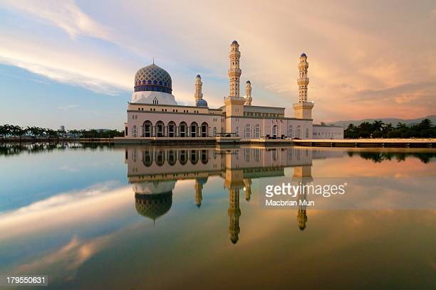 Reflection of Mosque at Sabah, Borneo, Malaysia