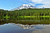 Reflection Lake with Mt.Rainier in the background.