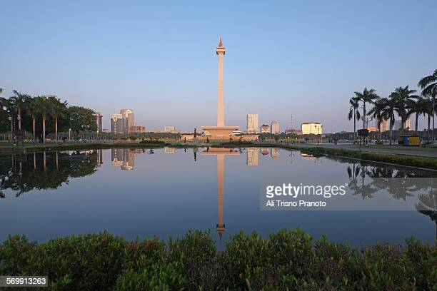 Reflection of National Monument MONAS