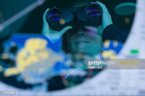 Reflection of officer on navigational display