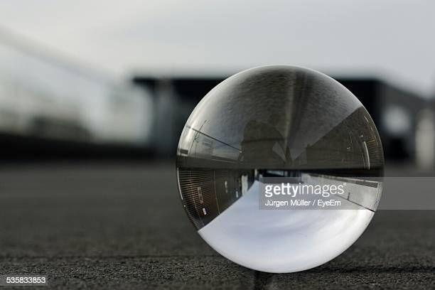 Reflection Of Sky On Crystal Ball