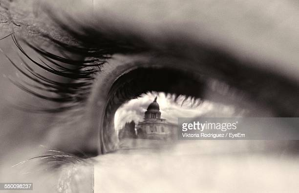 Reflection Of St Pauls Cathedral In Human Eye