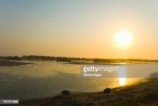 Reflection of sunlight, Cienaga, Atlantico, Colombia : Foto de stock