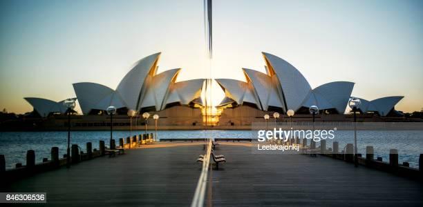 Reflection of Sydney Opera house