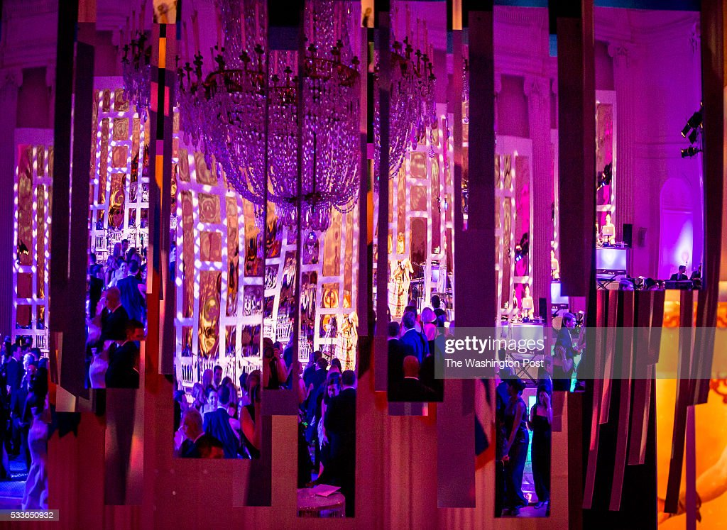 A reflection of the dance floor in mirrored decor at the Washington National Opera (WNO) Ball at the Organization of American States on Saturday, May 21, 2016. The annual Ball celebrated the WNO's 60th anniversary season.