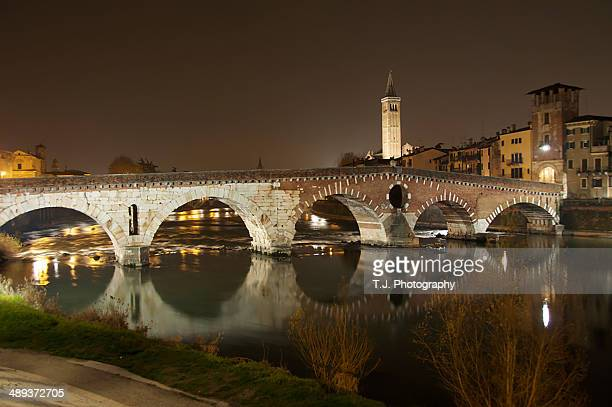 Reflection of Verona in the river.