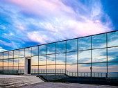 sky reflection at a facade