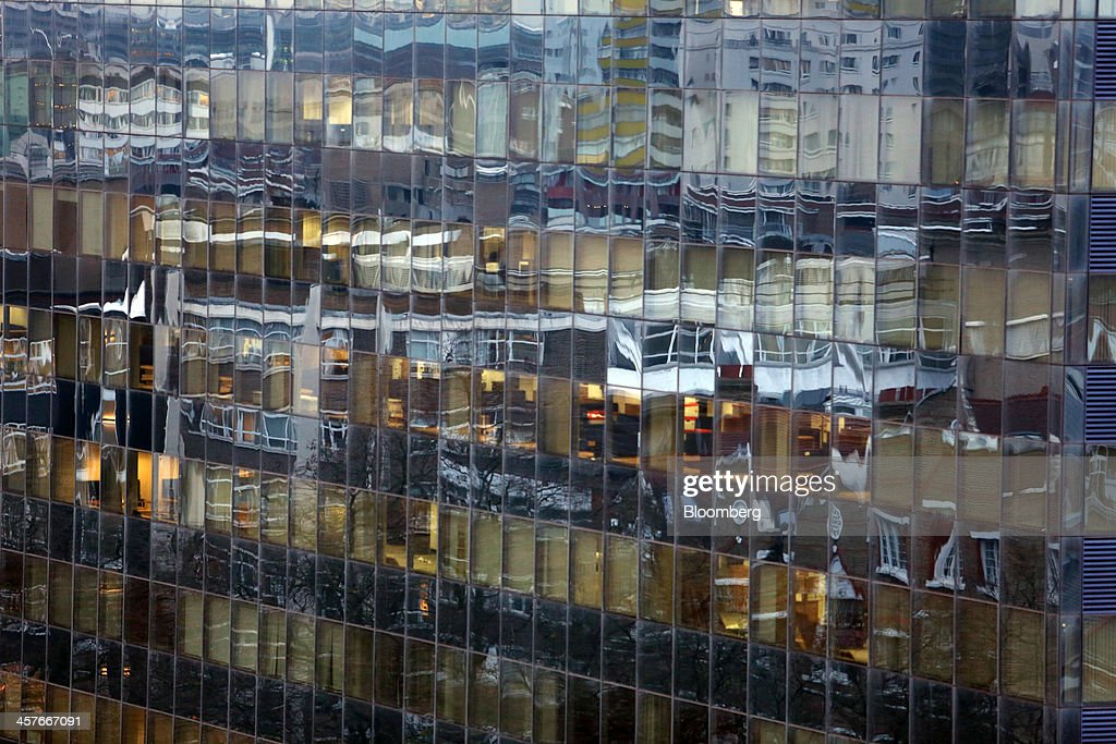 Reflections are seen in the glass windows of an office block as it stands in the area known as London's Tech City, near Old street roundabout, in London, U.K., on Tuesday, Dec. 17, 2013. The U.K government last year pledged 50 million pounds for a new London startup incubator, and hired ex-Facebook Inc. executive Joanna Shields to promote Tech City, with Google Inc., Amazon.com Inc., and Cisco Systems Inc. all having taken space in the area or planning to do so. Photographer: Chris Ratcliffe/Bloomberg via Getty Images