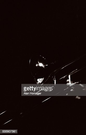 Reflections in a trombone : Stock Photo