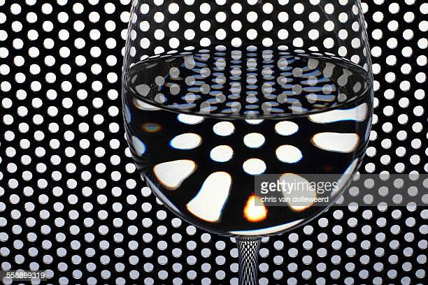 Reflections in a wineglass