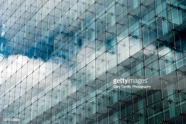 Reflections in office block
