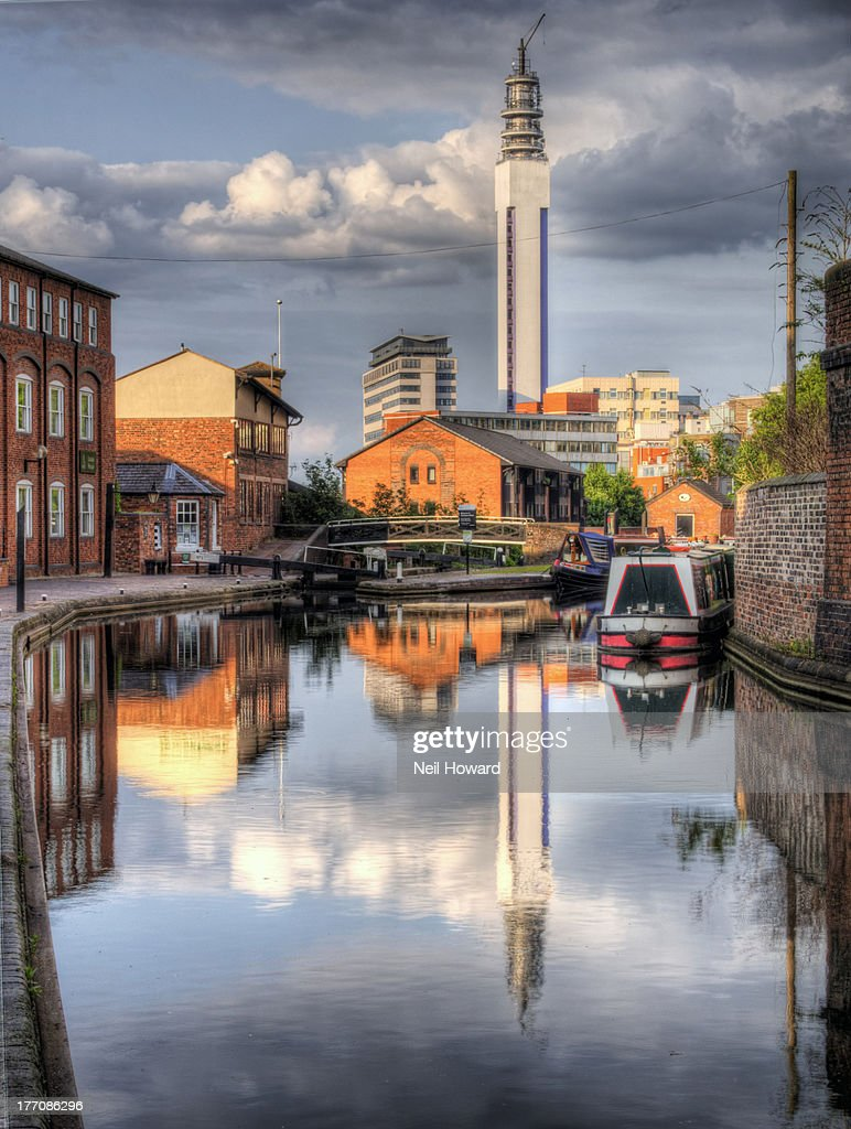 Reflections in the canal in Birmingham