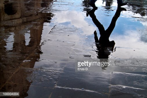Reflections near the Coliseum : Stock Photo