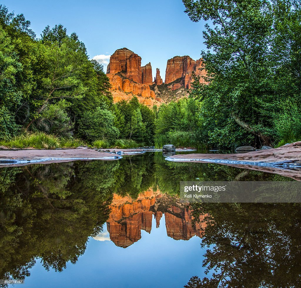 Reflections of Cathedral : Stock Photo