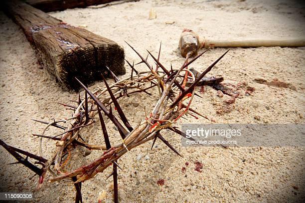 Reflets sur Christ crucifixion