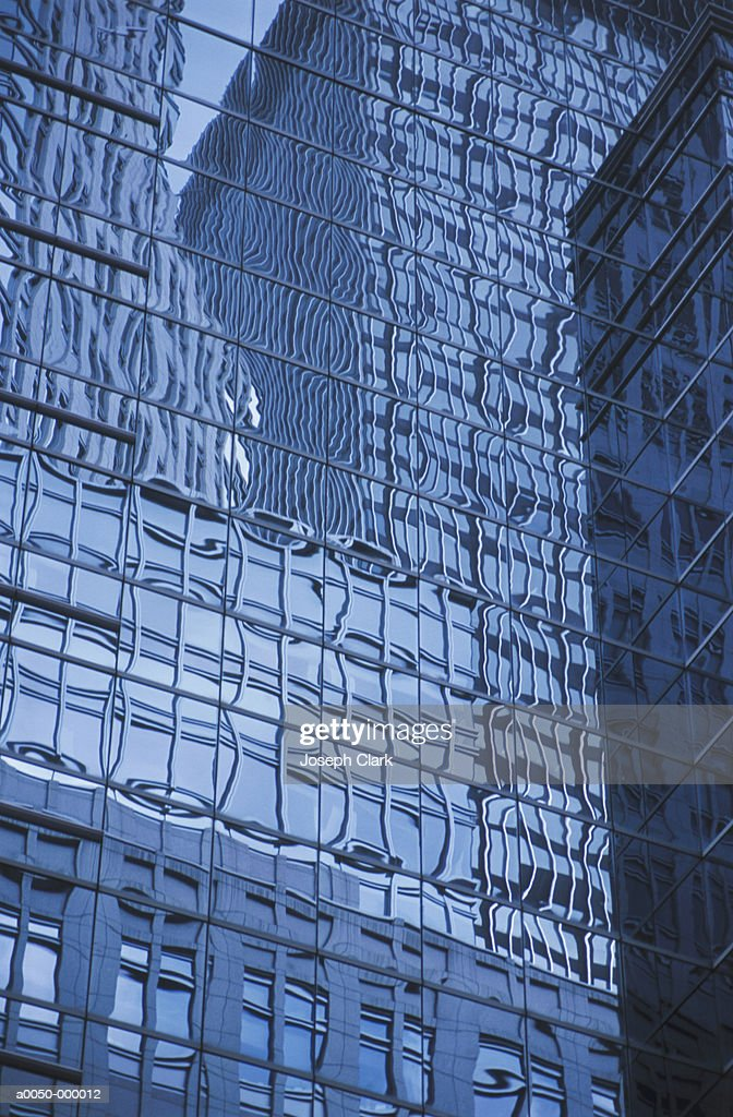 Reflections on Office Building : Stock Photo