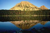 Bald mountain from Mirror Lake, High Uintas, Utah
