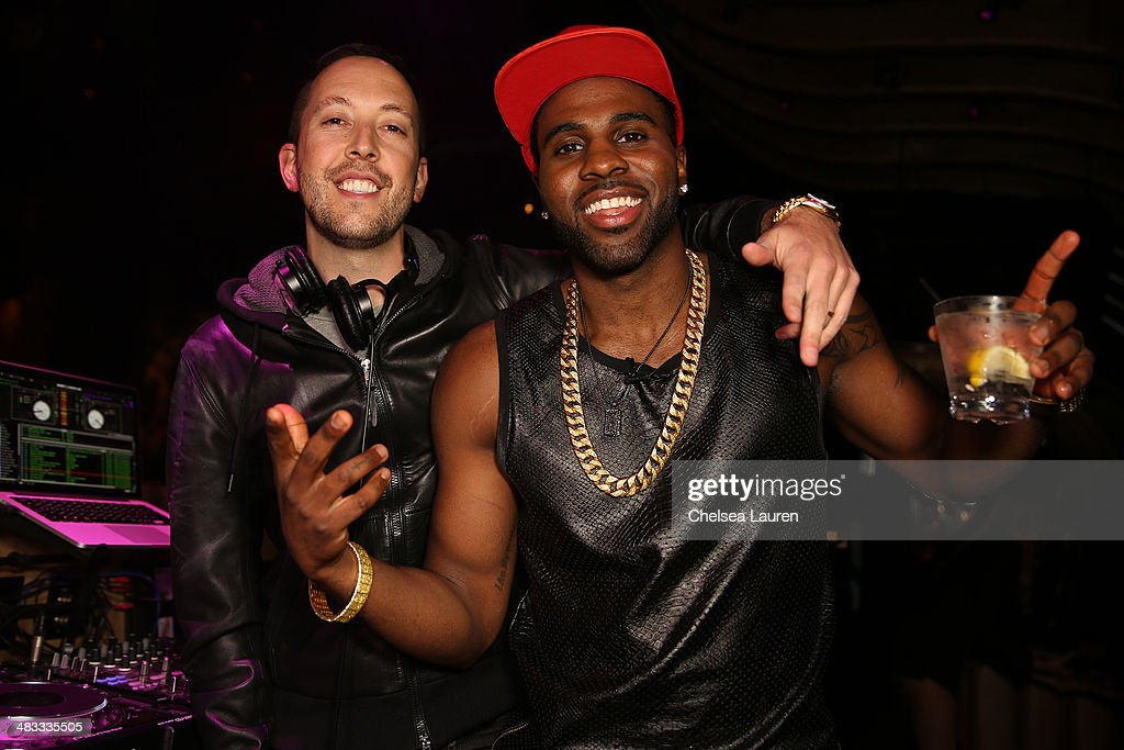 DJ Reflex (L) and singer <a gi-track='captionPersonalityLinkClicked' href=/galleries/search?phrase=Jason+Derulo&family=editorial&specificpeople=5745869 ng-click='$event.stopPropagation()'>Jason Derulo</a> attend the listening party for <a gi-track='captionPersonalityLinkClicked' href=/galleries/search?phrase=Jason+Derulo&family=editorial&specificpeople=5745869 ng-click='$event.stopPropagation()'>Jason Derulo</a>'s new album 'Talk Dirty' at 1OAK on April 7, 2014 in West Hollywood, California.