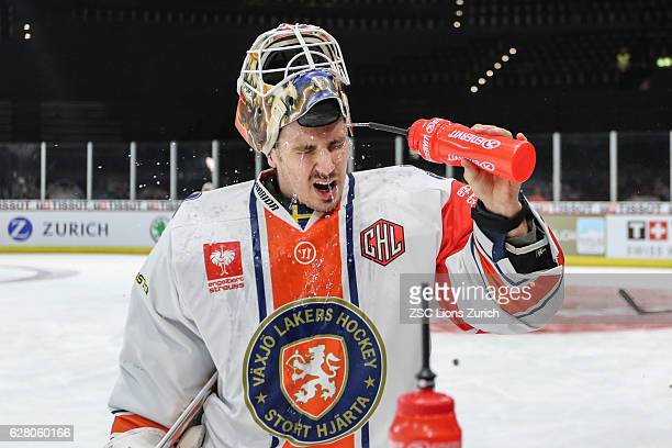 Refresh by Andren Victor of Vaxjo during the Warm Up at the Champions Hockey League Quarter Final match between ZSC Lions Zurich and Vaxjo Lakers at...