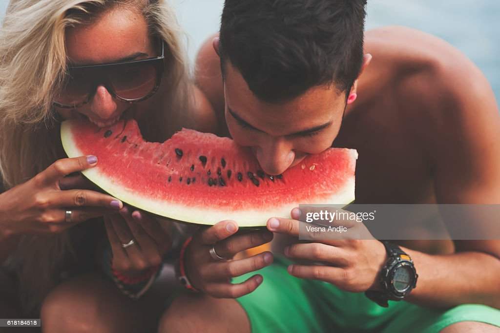 Refreshing and delicious watermelon : Stock Photo