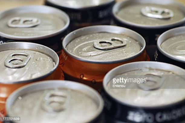 Refreshing cans of soda (landscape)