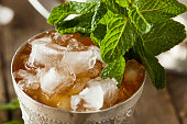 Refreshing Cold Mint Julep for the Derby