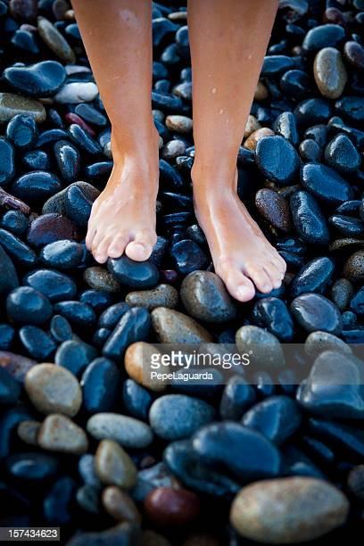 Des pieds de galets