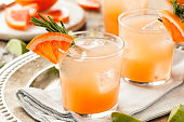Refreshing Grapefruit and Tequila Palomas with Rosemary
