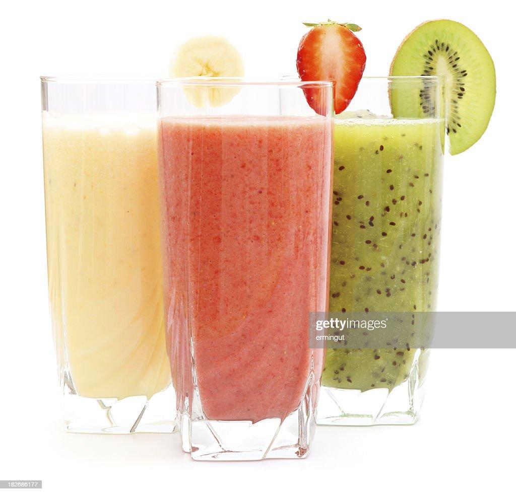 'Refreshing juices from kiwi, banana and strawberry'