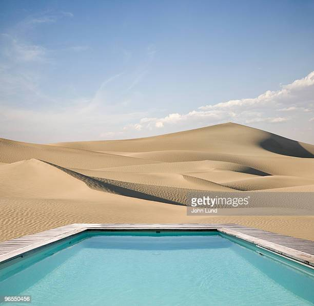 A refreshing pool amid the dry dunes