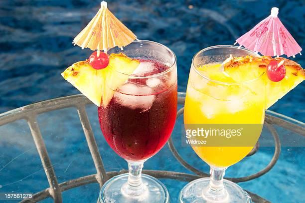 Des boissons aux fruits tropicaux