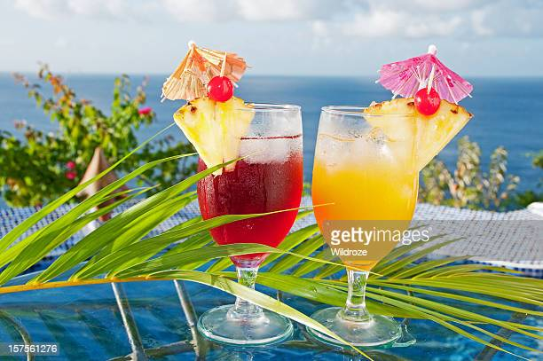 Tropical drink stock photos and pictures getty images for Fruity mixed drinks recipes