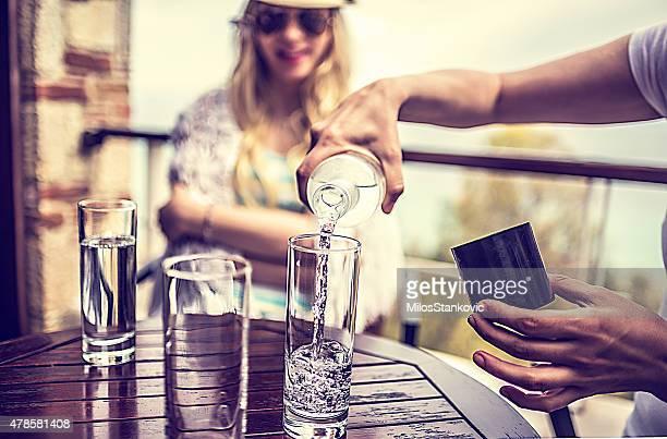 Erfrischungen im coffee bar