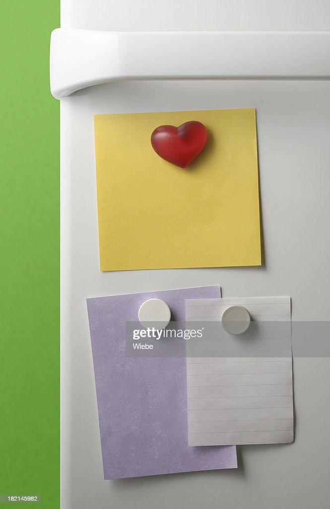 Refridgerator Notes : Stock Photo