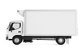 Refrigerated Truck isolated on white background. 3D render