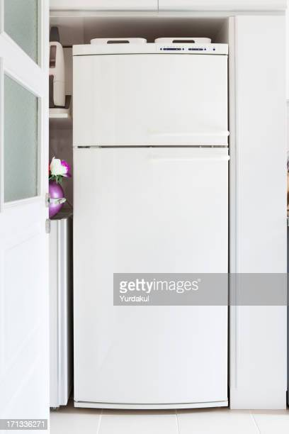 refrigerator in kitchen