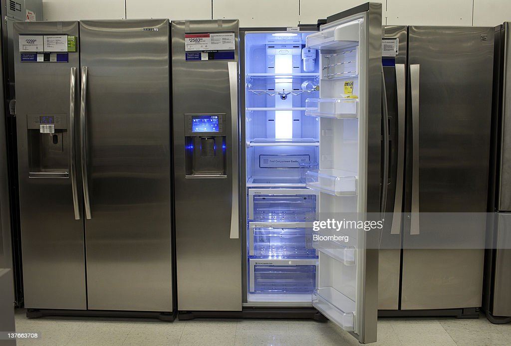 Refrigerators are displayed for sale at a Sears Holdings Corp. store in Jersey City, New Jersey, U.S., on Tuesday, Jan. 24, 2012. The U.S Census Bureau is scheduled to release durable goods data on Jan. 26. Photographer: Victor J. Blue/Bloomberg via Getty Images