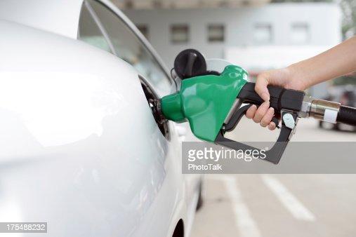 Refueling At Gas Station - XXXXXLarge