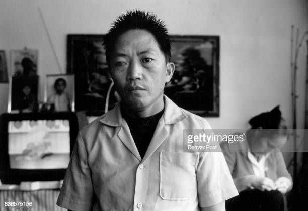 Refugee and veteran Waskhue Xiong lost the sight in one eye while fighting with the CTA backed resistance in Laos He spends most of his time at home...