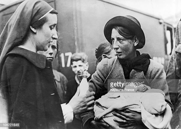 Refugee Arrives In Paris In 1940