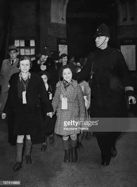 Refugee Children Arriving From Danzig In London On May 1939
